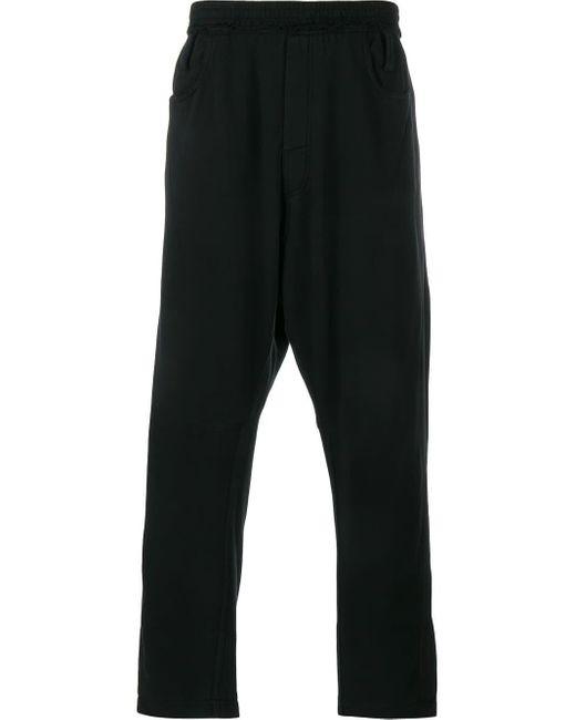 Haider Ackermann Black Cropped Track Pants for men
