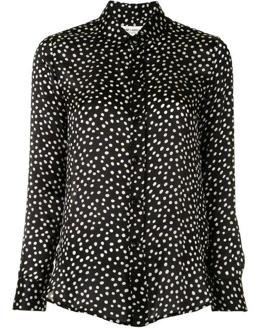 Chemise à pois Saint Laurent en coloris Black