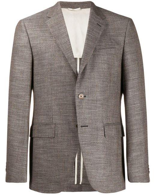メンズ BOSS マイクロチェック ジャケット Gray