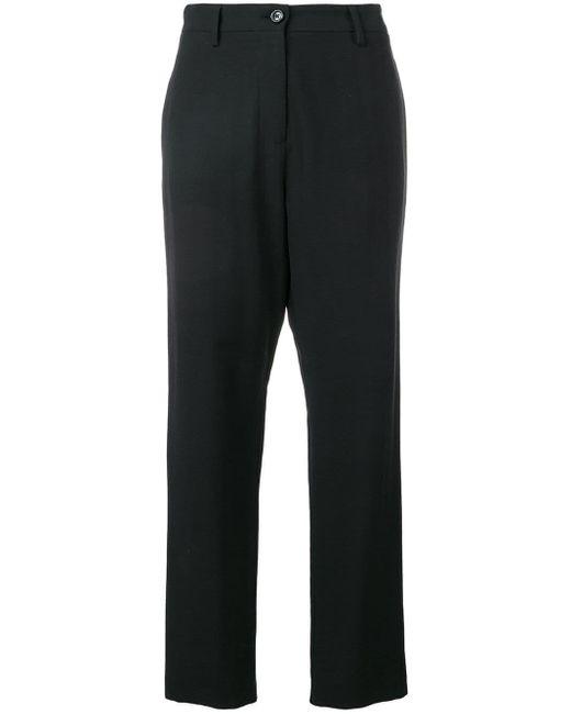 Love Moschino Pantalones de vestir con talle alto de mujer de color negro
