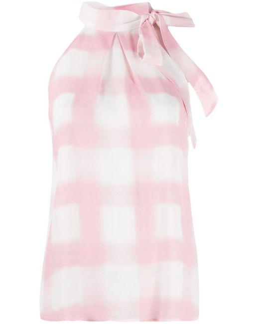 Altea Blusa estampada con cuello halter de mujer de color rosa MNdHj