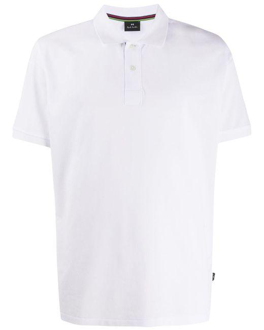 メンズ PS by Paul Smith ボクシーフィット ポロシャツ White
