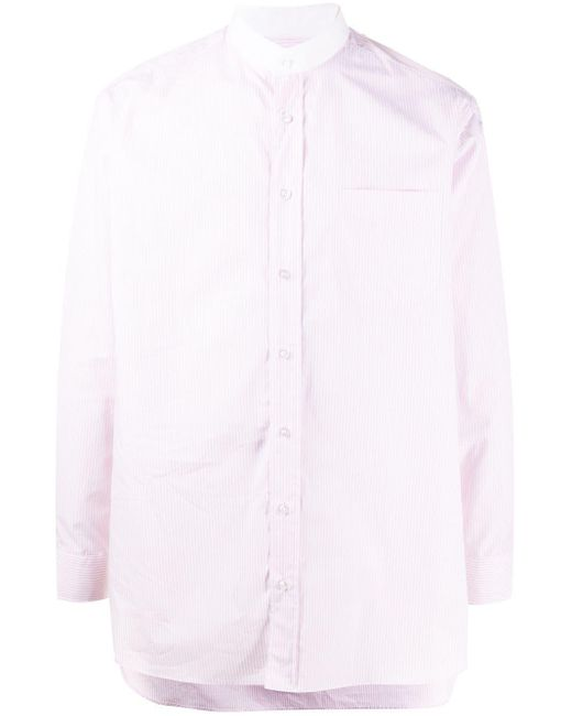 メンズ Mackintosh マンダリンカラー シャツ Pink