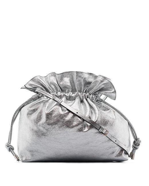 Isabel Marant Metallic Ailey Drawstring Shoulder Bag