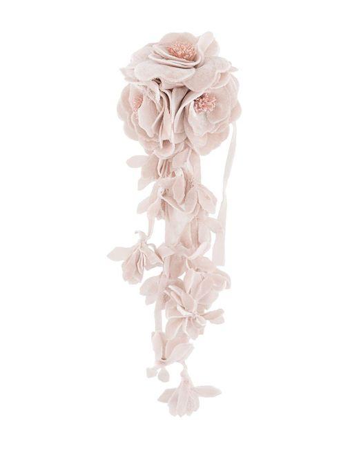 Брошь С Цветочным Декором Philosophy Di Lorenzo Serafini, цвет: Pink