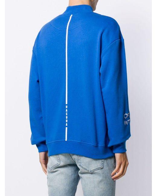 メンズ Haculla エンブロイダリー スウェットシャツ Blue