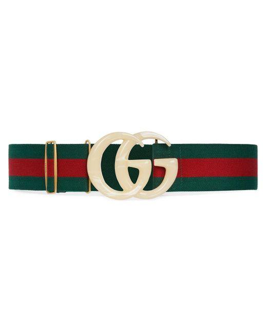 Gucci グリーン & レッド GG ウェブ ベルト Green