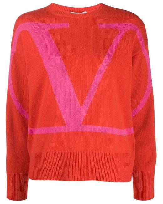 Valentino Vロゴ プルオーバー Orange