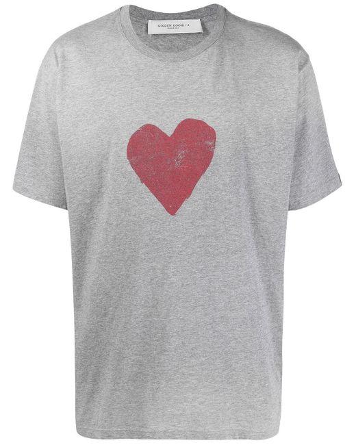 メンズ Golden Goose Deluxe Brand ハートプリント Tシャツ Gray