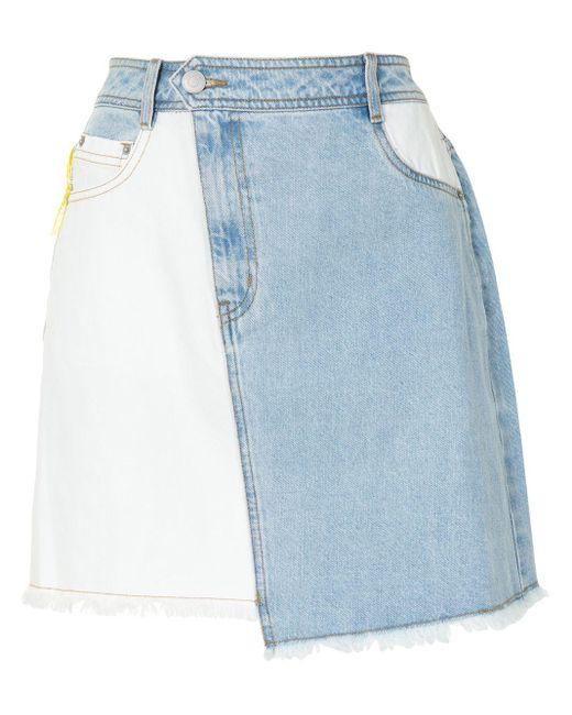 PORTSPURE コントラストパネル スカート Blue