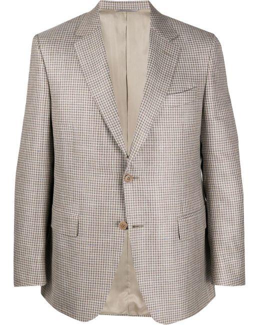 メンズ Canali チェック ジャケット Gray