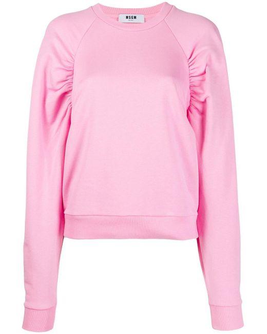 MSGM パフスリーブ スウェットシャツ Pink