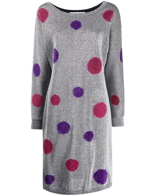 Dior プレオウンド ポルカドット ドレス Multicolor
