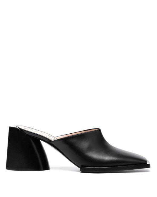 N°21 Black Block Heel Mules