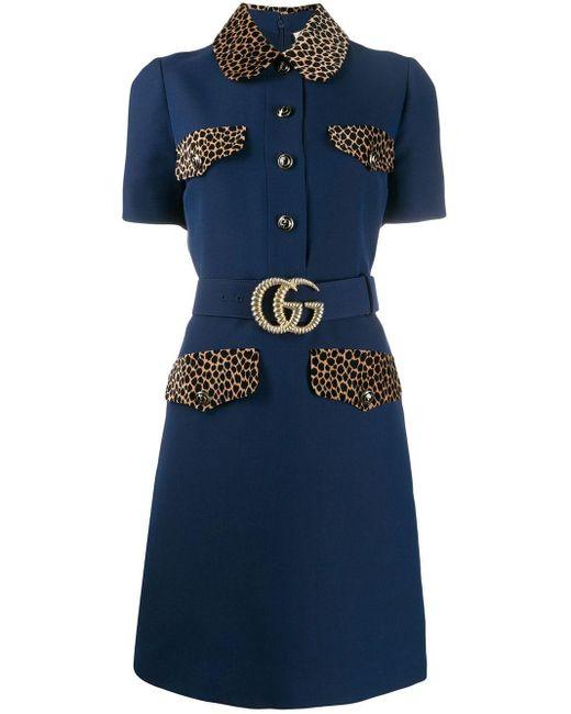 Gucci GG ベルテッド ドレス Blue
