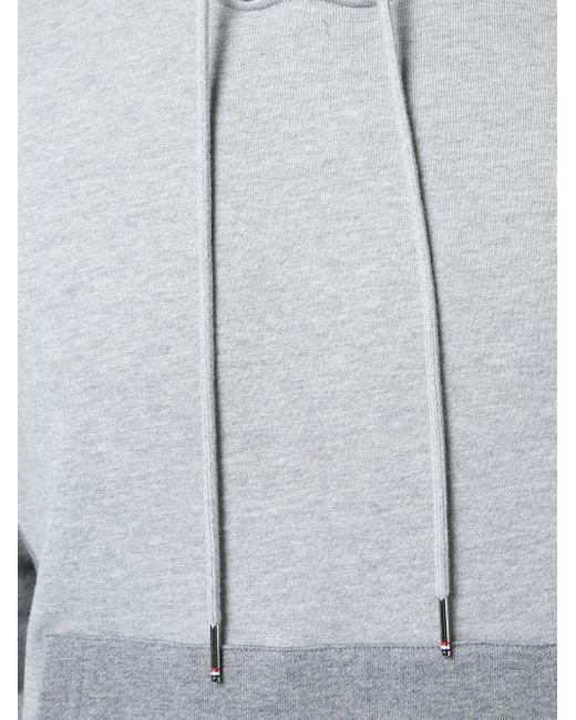 Пуловер С Капюшоном И Полосками Thom Browne для него, цвет: Gray