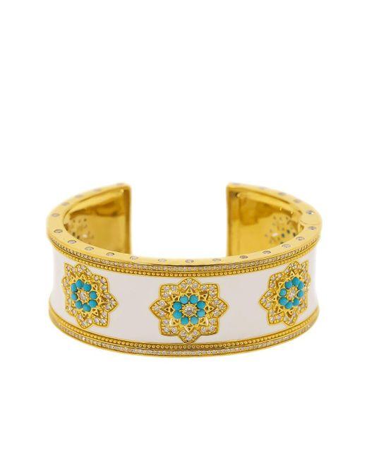 Buddha Mama Mandalas ダイヤモンド ターコイズ ブレスレット 20kイエローゴールド Yellow