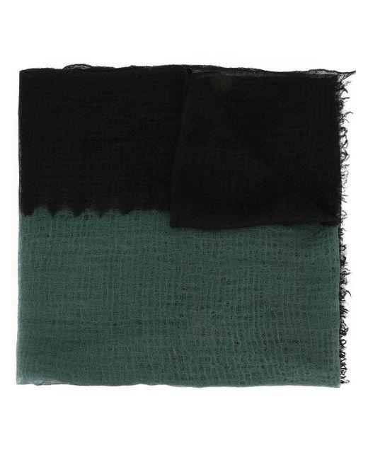Suzusan バイカラー カシミアスカーフ Green