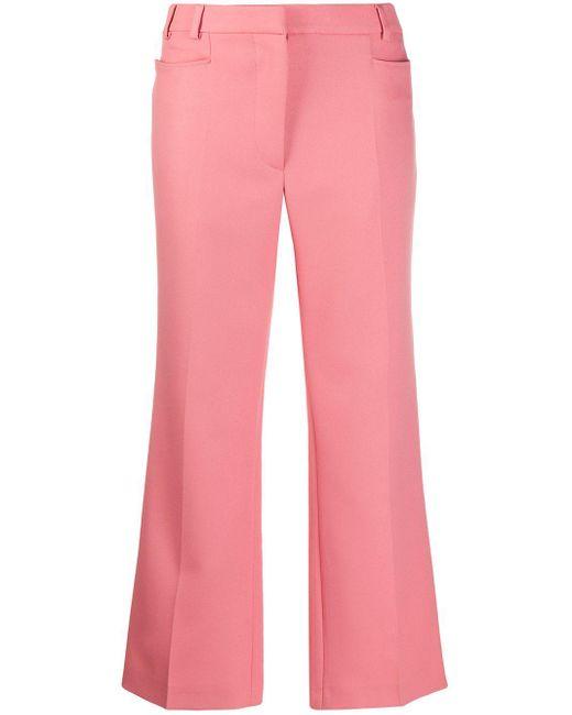 Stella McCartney クロップド フレアパンツ Pink