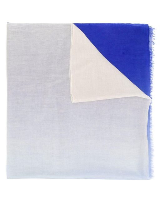 Snobby Sheep カシミア スカーフ Blue