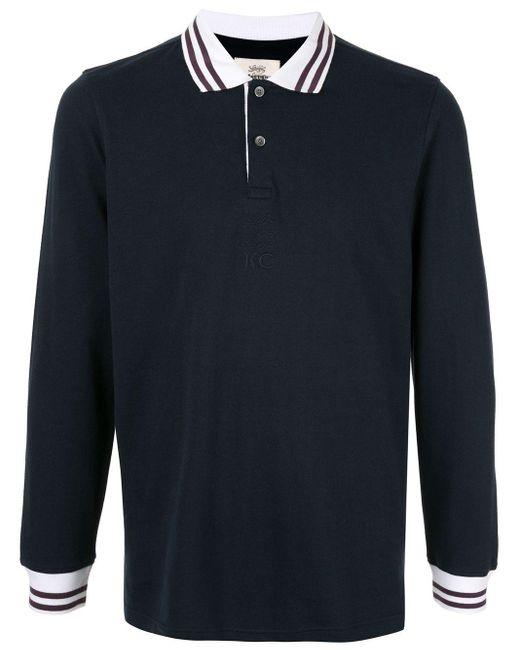 メンズ Kent & Curwen コントラスト ポロシャツ Blue