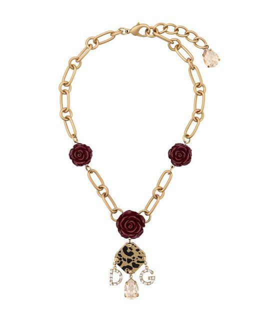 Dolce & Gabbana Metallic Decorative Element Necklace