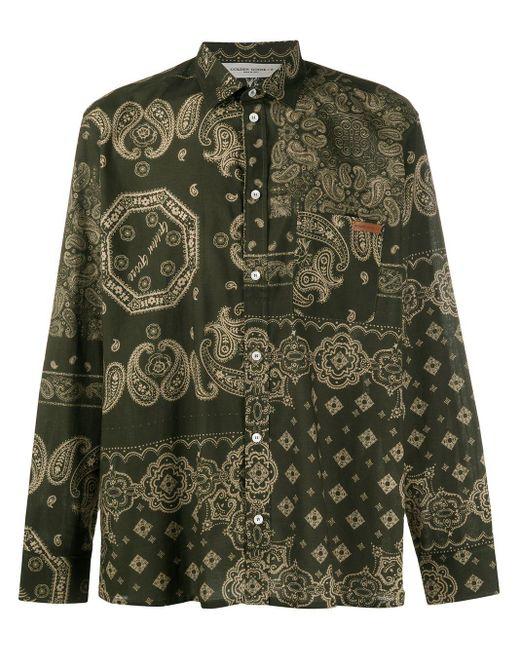 Golden Goose Deluxe Brand Green Houston Bandana Print Shirt for men