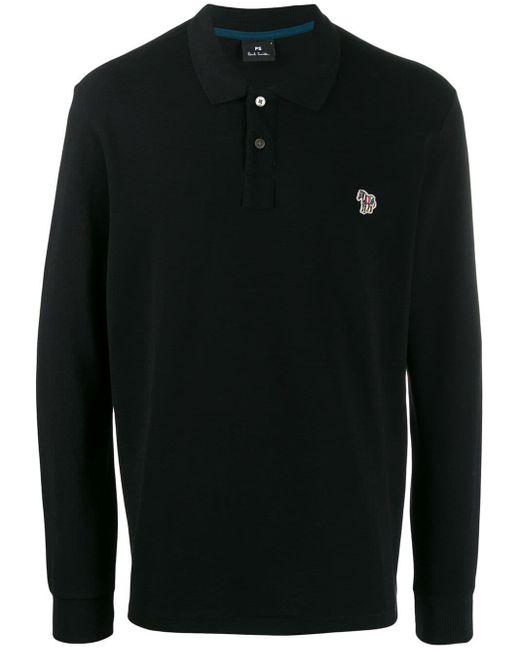 メンズ PS by Paul Smith ゼブラロゴ ポロシャツ Black