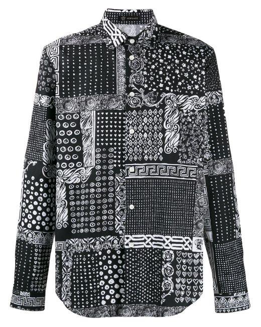 メンズ Versace バンダナプリント シャツ Multicolor