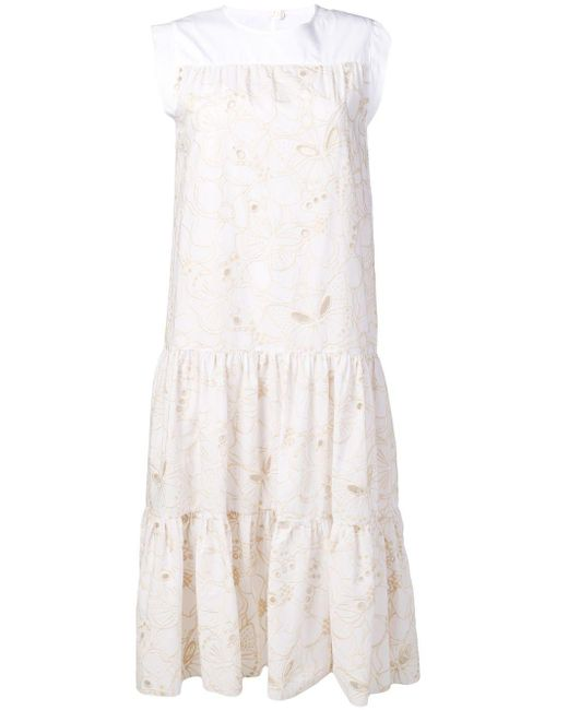 See By Chloé ティアード ドレス White