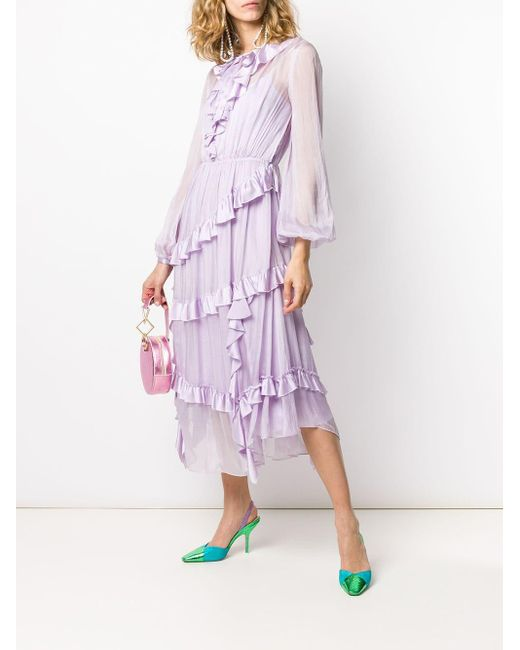 Temperley London ラッフルドレス Purple