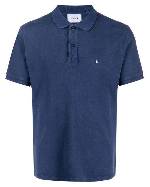 メンズ Dondup ロゴ ポロシャツ Blue