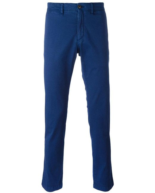 Moncler - Blue Classic Chino Trousers for Men - Lyst