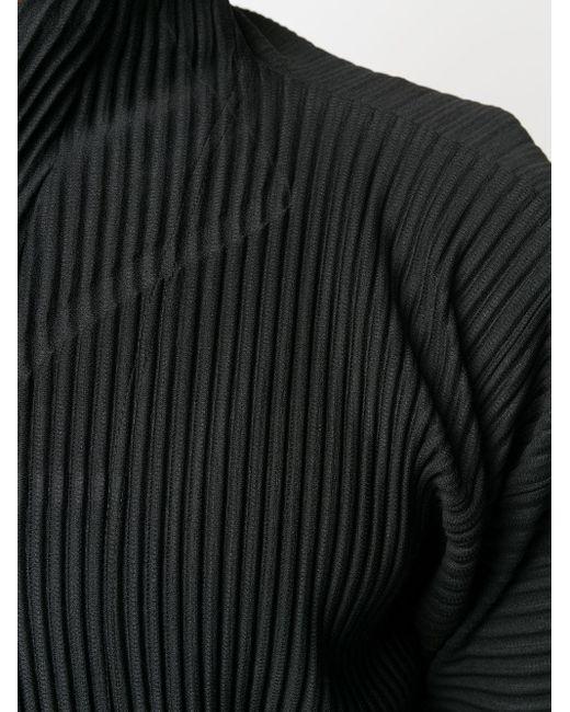 メンズ Homme Plissé Issey Miyake ジップアップ ジャケット Black