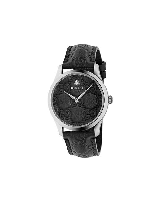 メンズ Gucci G-timeless 38mm 腕時計 Black