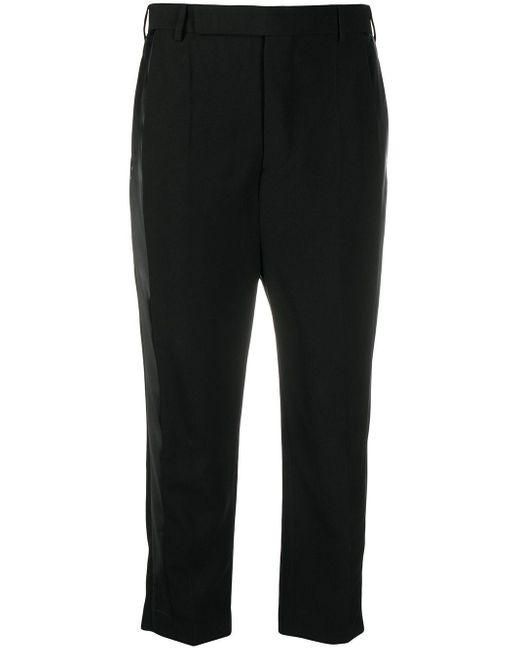 Pantalon à coupe crop Rick Owens en coloris Black