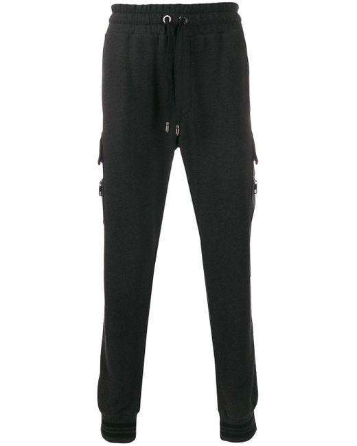 メンズ Dolce & Gabbana ストレッチ トラックパンツ Gray