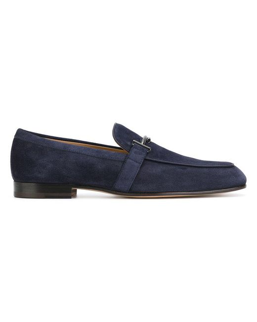 Tod's - Blue Buckled Loafers for Men - Lyst
