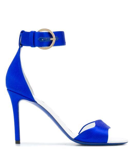 Emilio Pucci サテンサンダル Blue