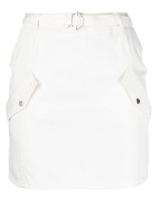 Patrizia Pepe White Schmaler Rock mit Taschen