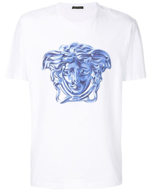 Versace Medusa Head T-shirt in White for Men | Lyst