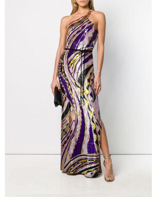 Emilio Pucci スター スパンコール ドレス Purple
