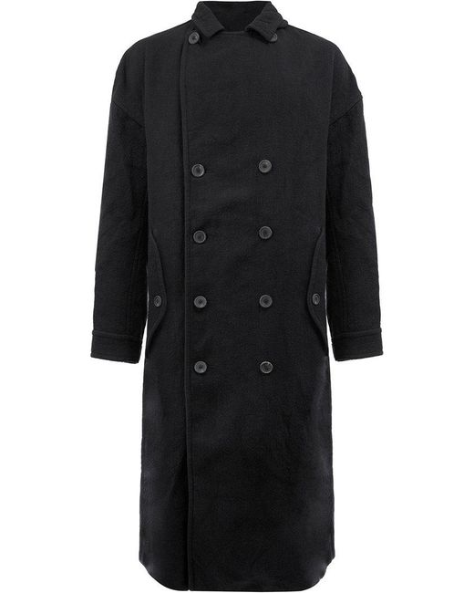 Ziggy Chen | Blue Double Breasted Coat for Men | Lyst