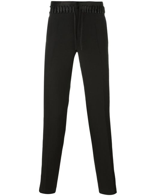 Haider Ackermann | Black Lace-up Detail Trousers for Men | Lyst