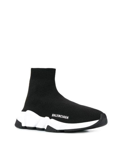 Balenciaga Speed Lt Sneakers Met Doorzichtige Zool in het Black