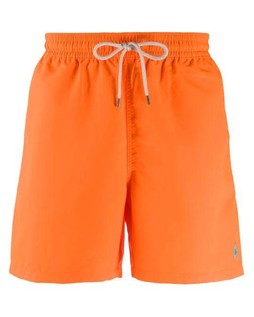 メンズ Polo Ralph Lauren Traveler トランクス水着 Orange