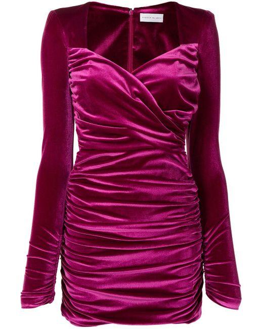 Robe courte Aubrey à fronces Rebecca Vallance en coloris Purple