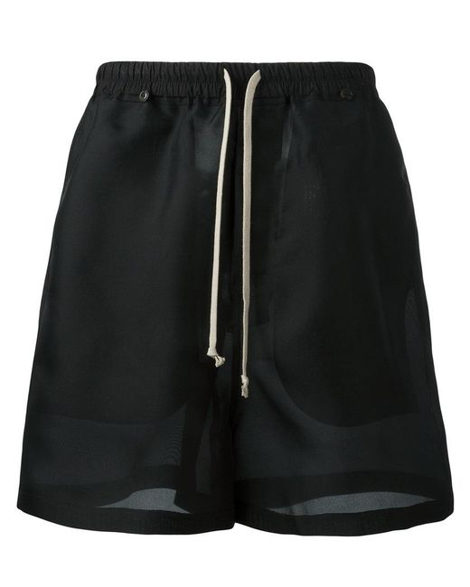 Rick Owens   Black Drawstring Shorts for Men   Lyst