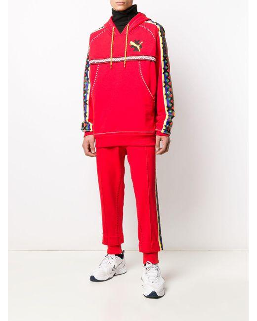 Pantalon de jogging à logo imprimé PUMA pour homme en coloris Red