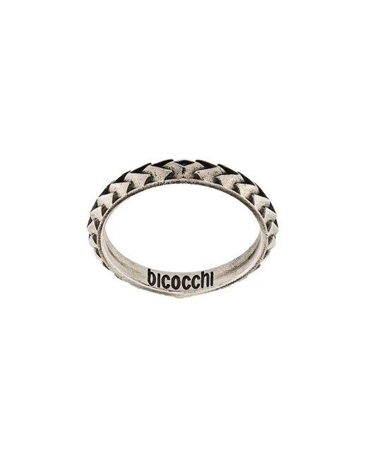 Emanuele Bicocchi ロゴ リング Metallic